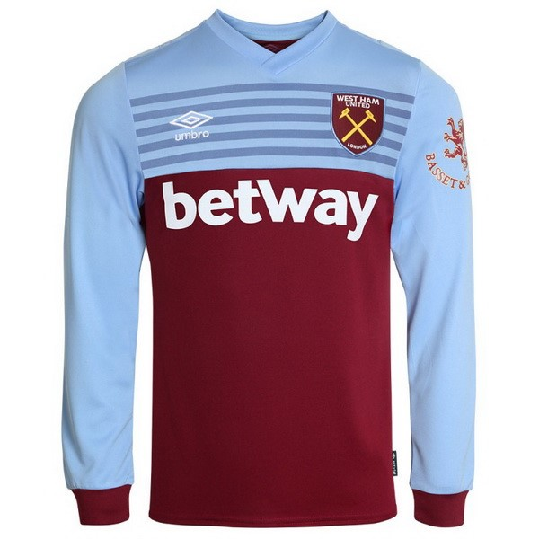 Maillot Football West Ham United Domicile ML 2019-20 Azul Rouge