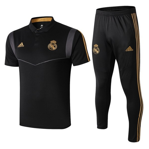 Polo Football Ensemble Complet Real Madrid 2019-20 Negro Gris