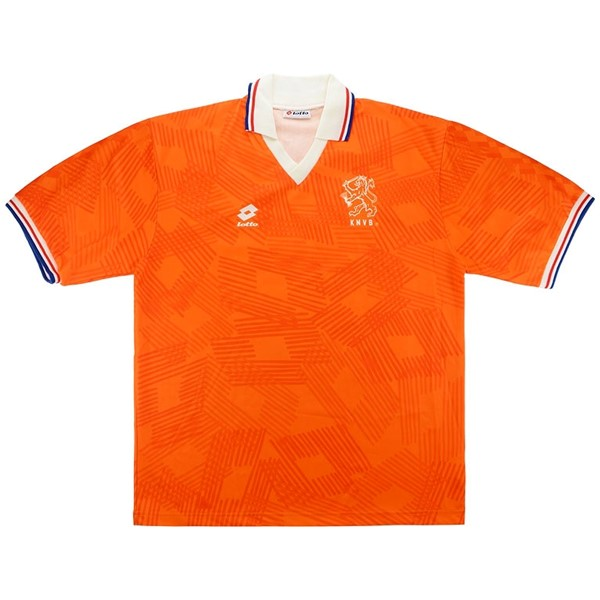 Maillot Football Pays-Bas Domicile Retro 1991 1992 Orange