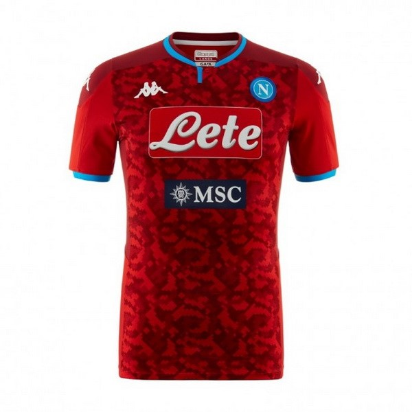 Maillot Football Naples Gardien 2019-20 Rouge