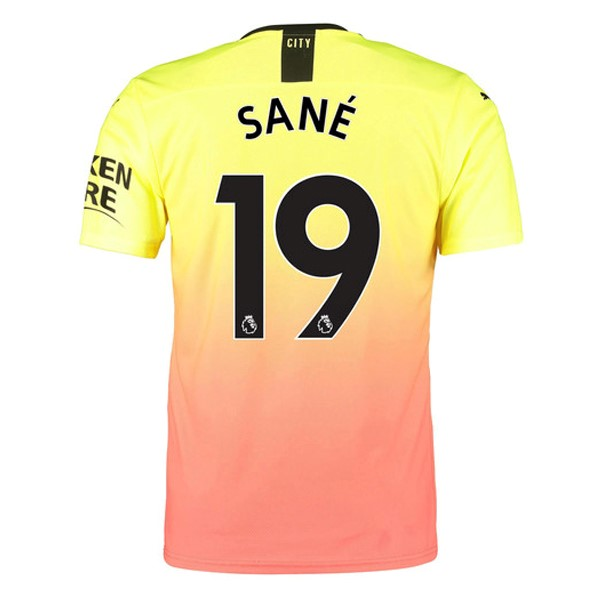 Maillot Football Manchester City NO.19 Sane Third 2019-20 Orange
