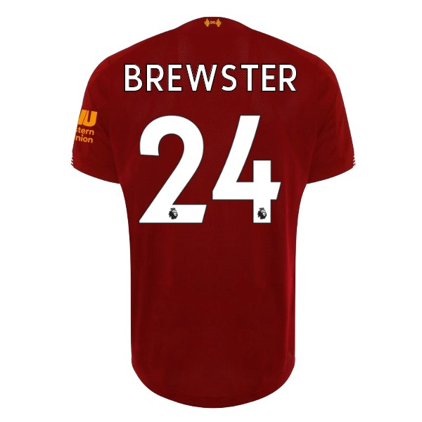 Maillot Football Liverpool NO.24 Brewster Domicile 2019-20 Rouge