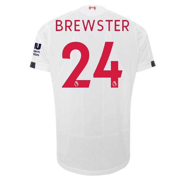 Maillot Football Liverpool NO.24 Brewster Exterieur 2019-20 Blanc