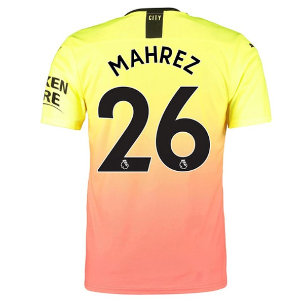 Maillot Football Manchester City NO.26 Mahrez Third 2019-20 Orange