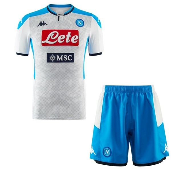Pantalon Football Naples Third Enfant 2019-20 Blanc Bleu