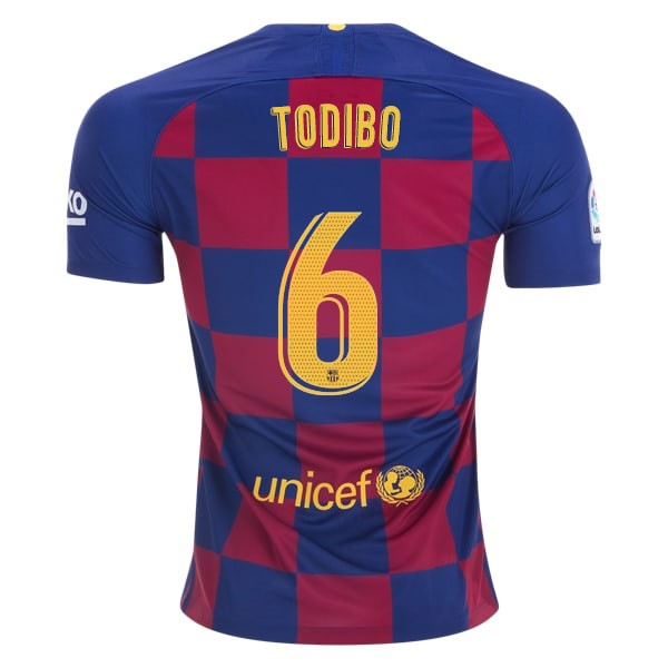 Maillot Football Barcelone NO.6 Todibo Domicile 2019-20 Bleu Rouge