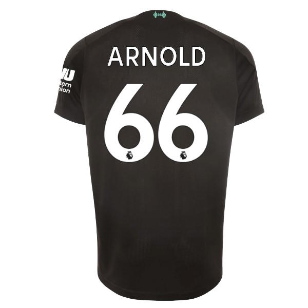 Maillot Football Liverpool NO.66 Arnold Third 2019-20 Noir