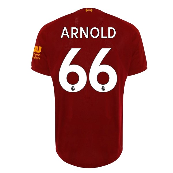 Maillot Football Liverpool NO.66 Arnold Domicile 2019-20 Rouge