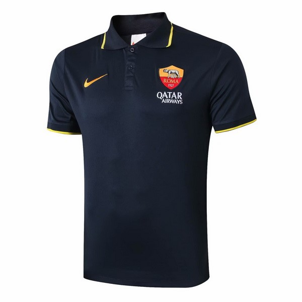 Polo AS Roma 2019-20 Noir Jaune