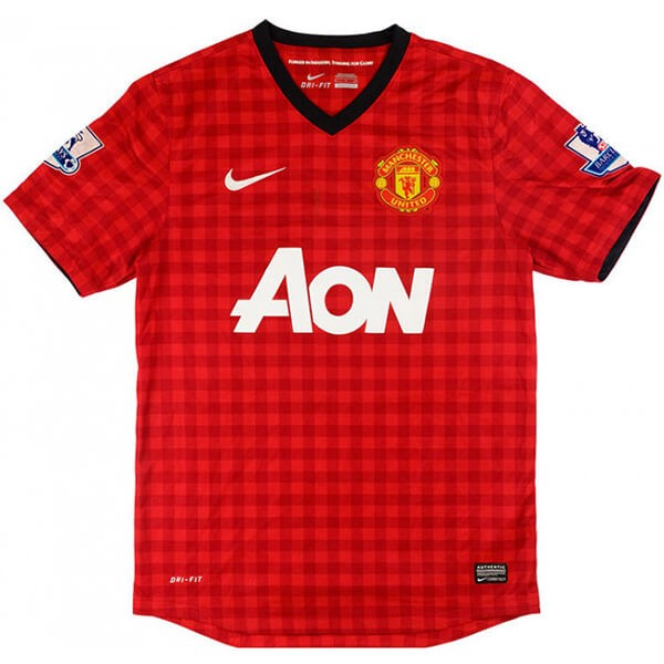 Maillot Football Manchester United Domicile Retro 2012 2013 Rouge