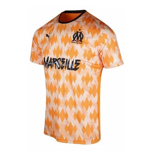 Thailande Maillot Football Marseille Influence Orange White