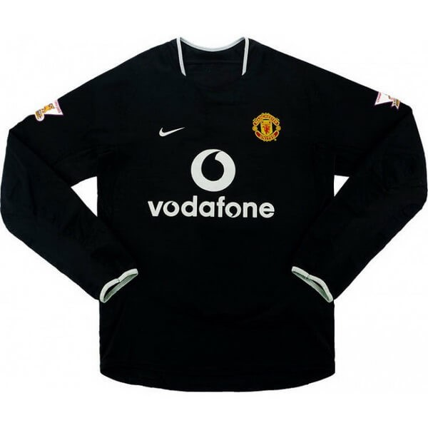 Maillot Football Manchester United Exterieur ML Retro 2003 2005 Noir
