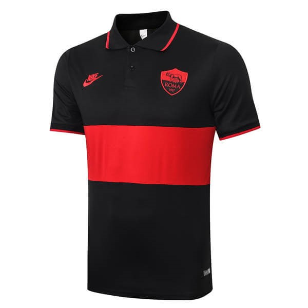 Polo AS Roma 2019-20 Noir Rouge
