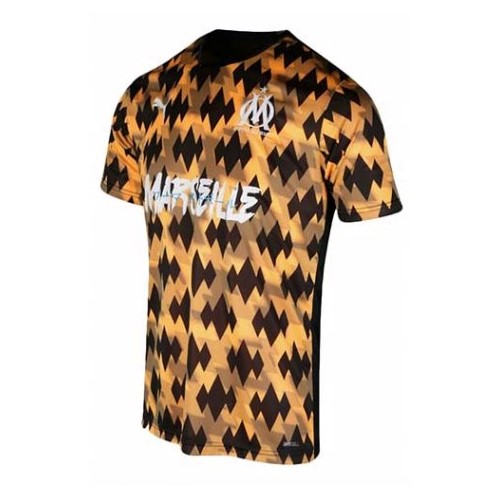 Thailande Maillot Football Marseille Influence Black Orange