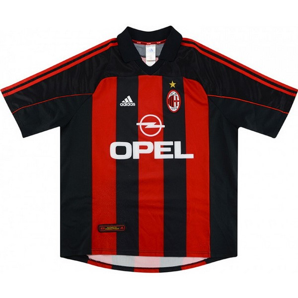 Maillot Football AC Milan Domicile Retro 2000 2002 Rouge