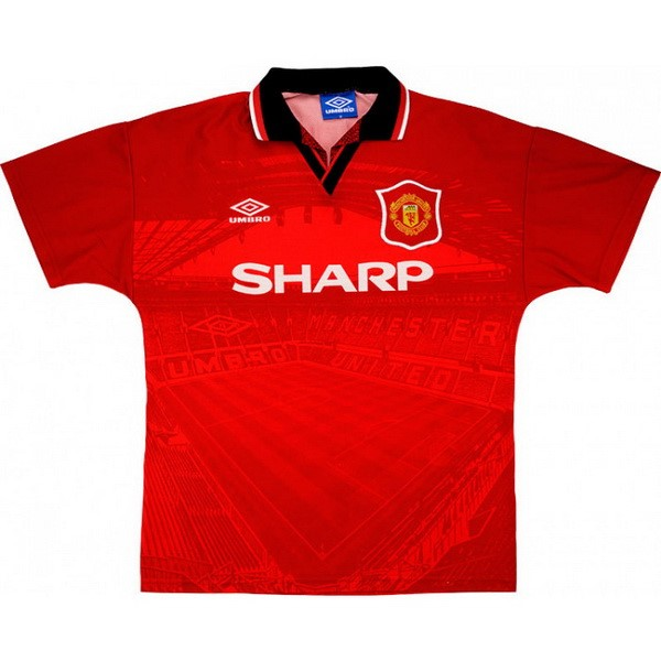 Maillot Football Manchester United Domicile Retro 1994 1996 Rouge