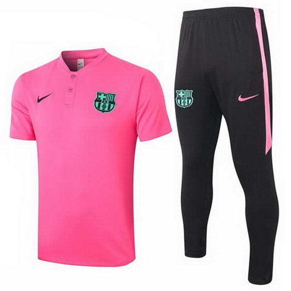 Polo Football Barcelone Ensemble Complet 2020-21 Rose Noir
