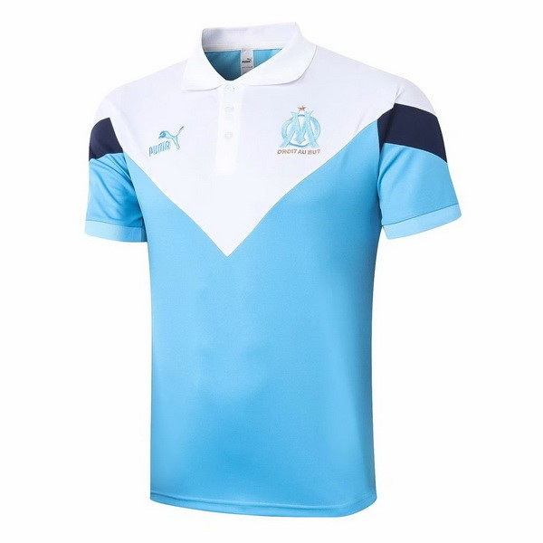 Polo Football Marseille 2020-21 Bleu Clair