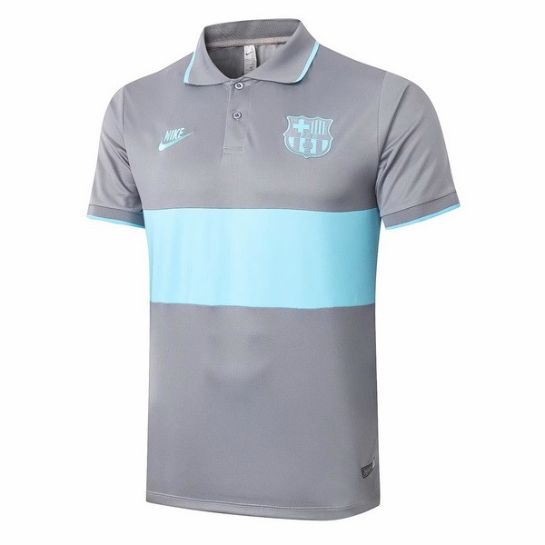 Polo Football Barcelone 2020-21 Gris Bleu
