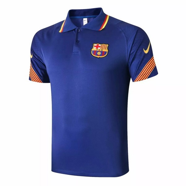 Polo Football Barcelone 2020-21 Bleu Orange