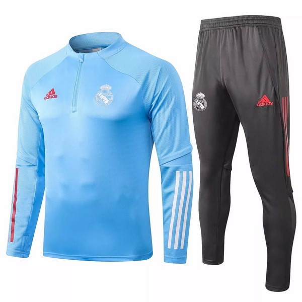 Survetement Football Real Madrid 2020-21 Bleu Clair Gris