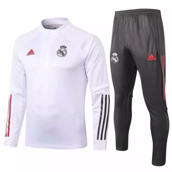 Survetement Football Real Madrid 2020-21 Blanc Gris
