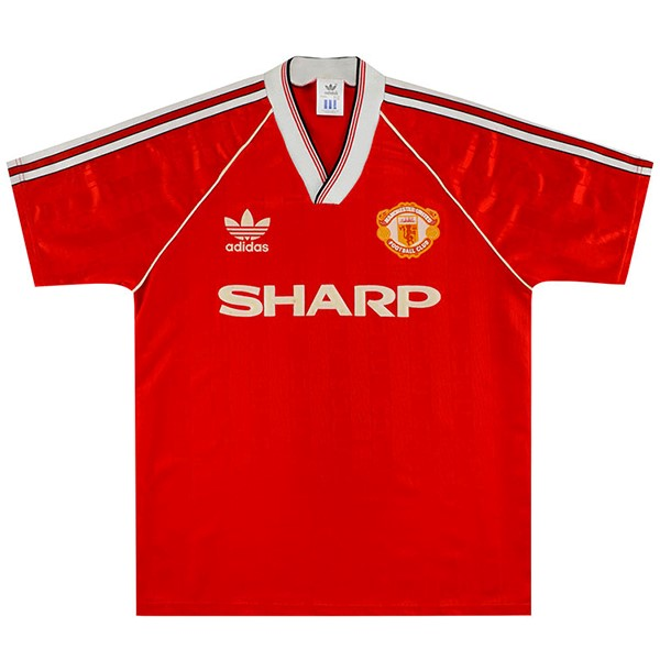 Thailande Maillot Football Manchester United Domicile Retro 1988 1990 Rouge