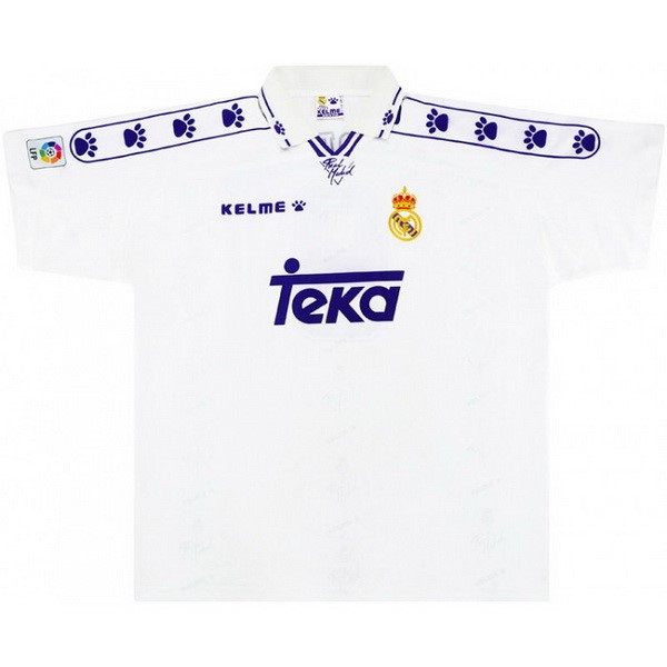 Thailande Maillot Football Real Madrid Domicile Retro 1994 1996 Blanc