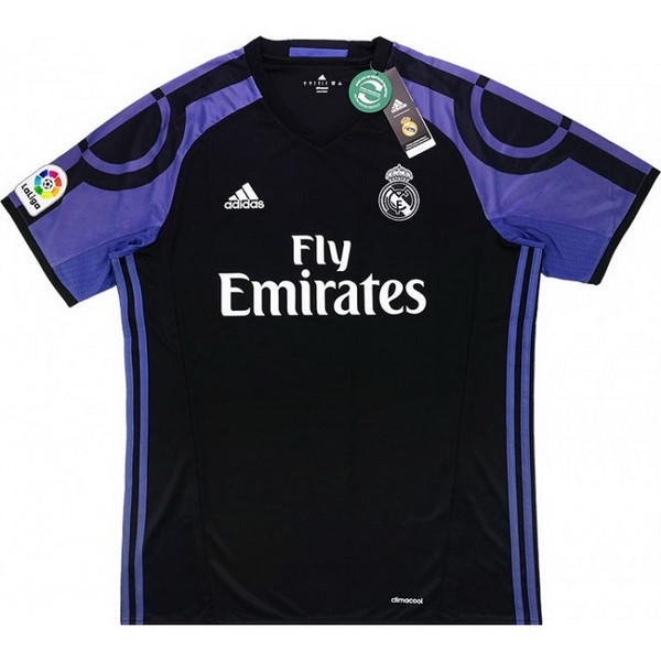 Thailande Maillot Football Real Madrid Tercera Retro 2016 2017 Noir