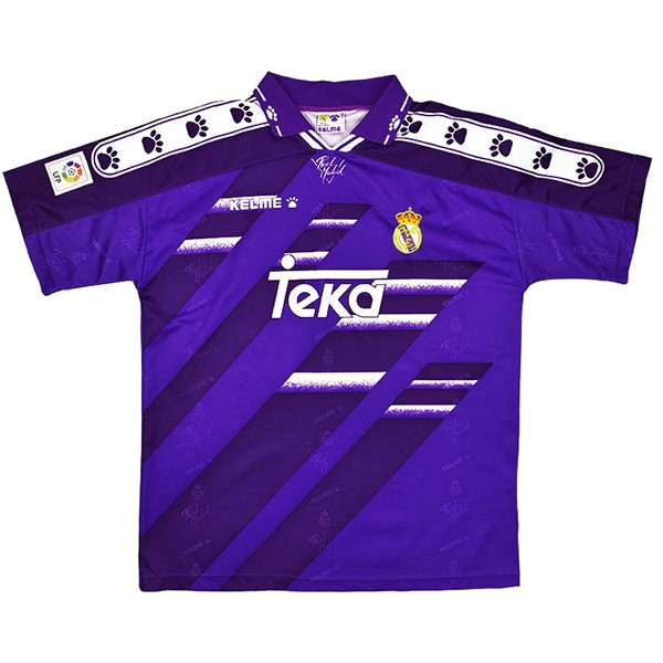 Thailande Maillot Football Real Madrid Exterieur Retro 1994 1996 Purpura
