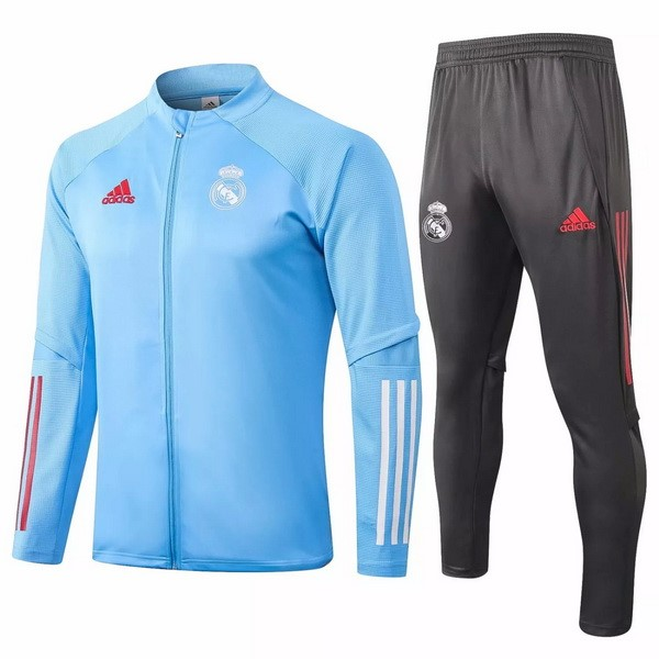 Survetement Football Real Madrid 2020-21 Gris Bleu Clair