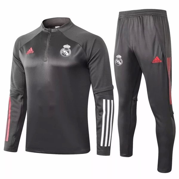 Survetement Football Real Madrid 2020-21 Gris Blanc
