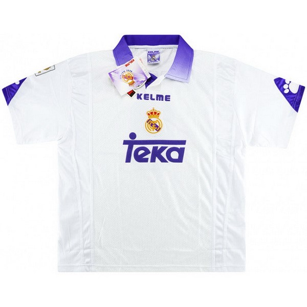 Thailande Maillot Football Real Madrid Domicile Retro 1997 1998 Blanc