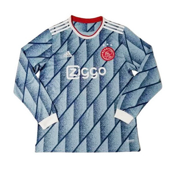 Thailande Maillot Football Ajax Exterieur ML 2020-21 Bleu