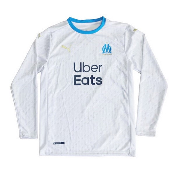 Thailande Maillot Football Marseille Domicile ML 2020-21 Blanc