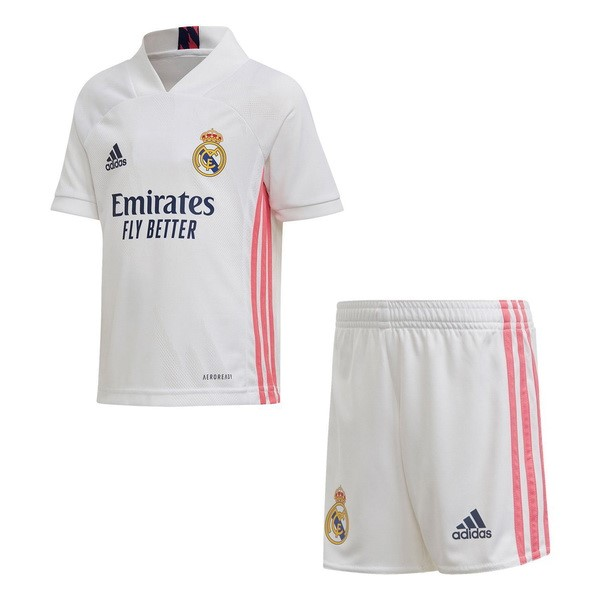 Maillot Football Real Madrid Domicile Enfant 2020-21 Blanc