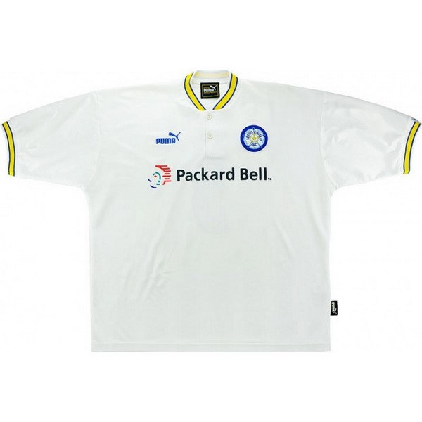 Thailande Maillot Football Leeds United Domicile Retro 1997 1998 Blanc