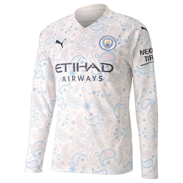 Thailande Maillot Football Manchester City Third ML 2020-21 Blanc