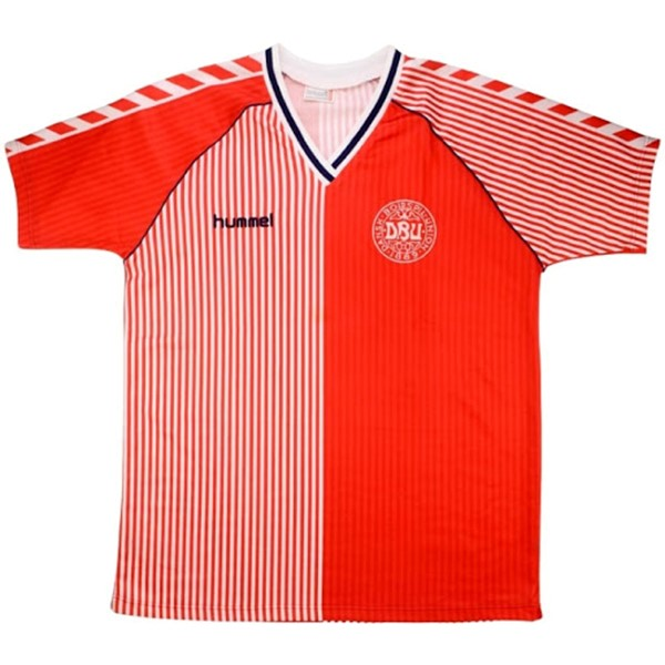 Thailande Maillot Football Danemark Domicile Retro 1986 Rouge