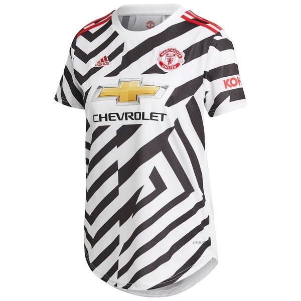 Maillot Football Manchester United Third Femme 2020-21 Blanc