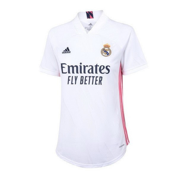 Maillot Football Real Madrid Domicile Femme 2020-21 Blanc