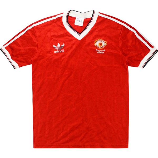 Thailande Maillot Football Manchester United Domicile Retro 1983 Rouge