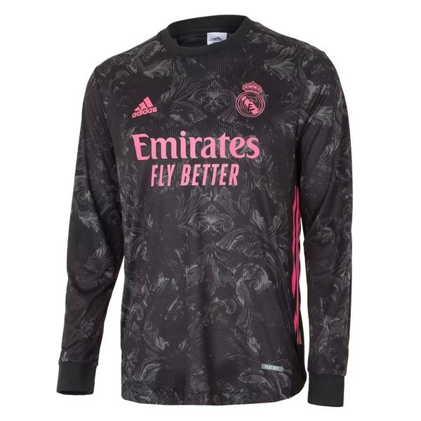 Thailande Maillot Football Real Madrid Third ML 2020-21 Noir