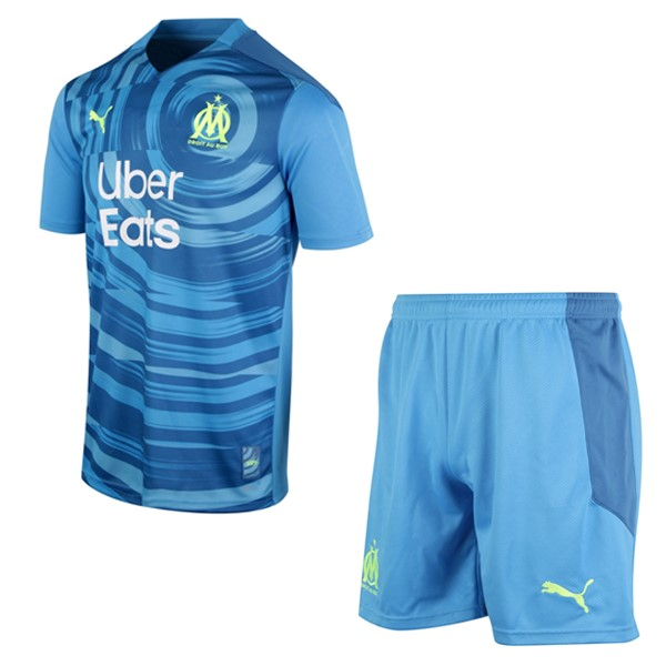 Maillot Football Marseille Third Enfant 2020-21 Bleu