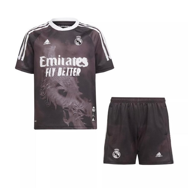 Maillot Football Real Madrid Human Race Enfant 2020-21 Noir