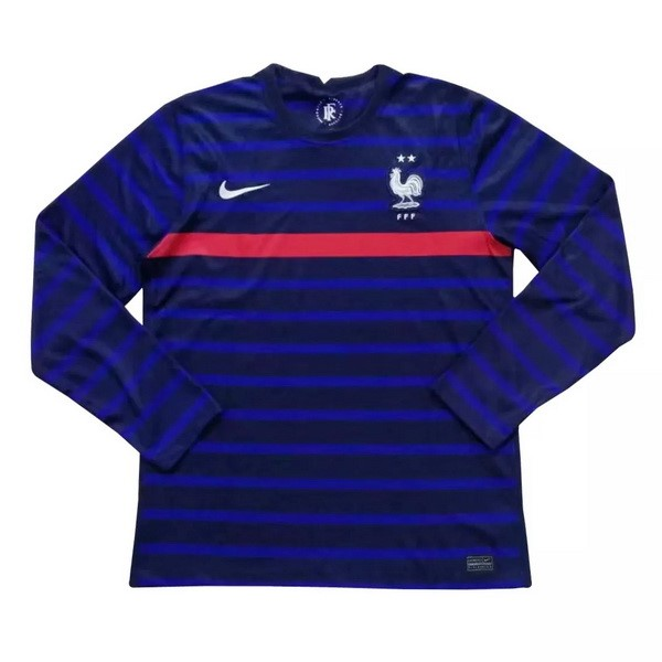 Thailande Maillot Football France Domicile ML 2020 Bleu