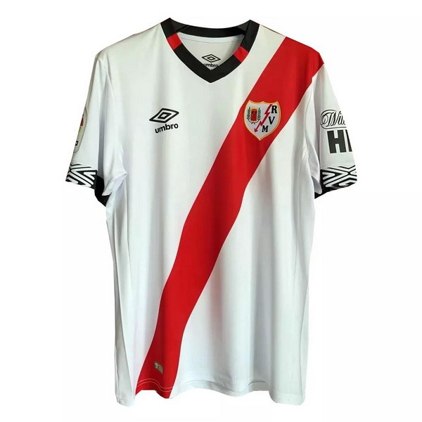 Maillot Football Rayo Vallecano Domicile 2020-21 Blanc Rouge