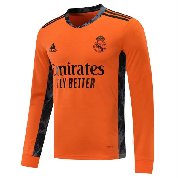 Maillot Football Real Madrid Exterieur ML 2020-21 Orange