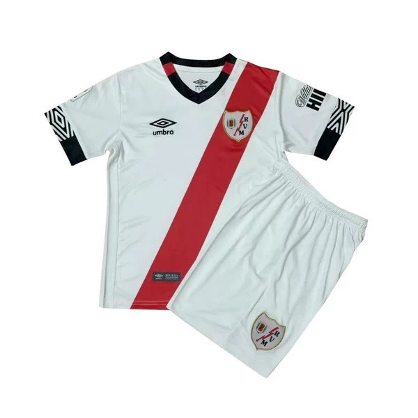 Maillot Football Rayo Vallecano Domicile Enfant 2020-21 Blanc