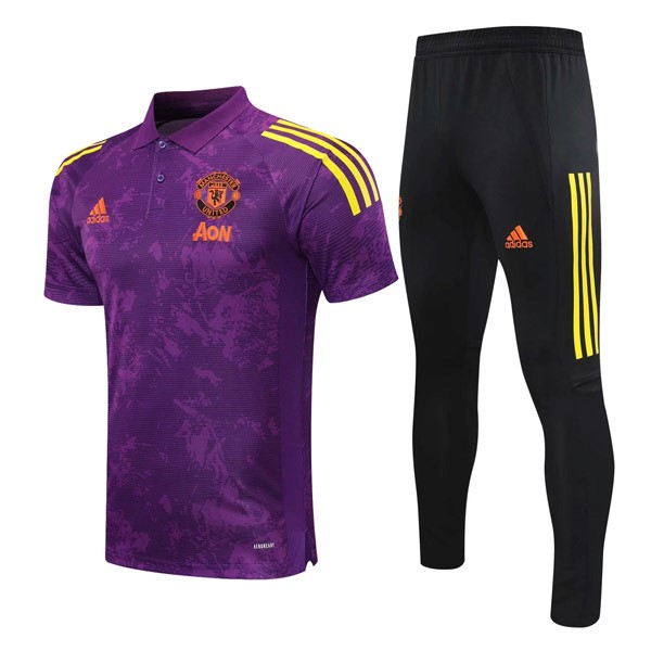 Polo Manchester United Ensemble Complet 2021-22 Purpura